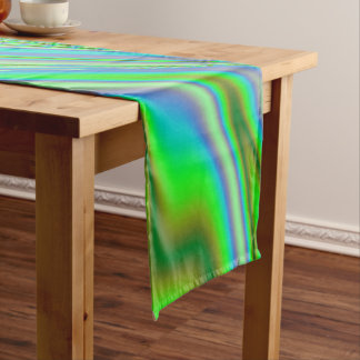 Green Abstract Swirl Long Table Runner