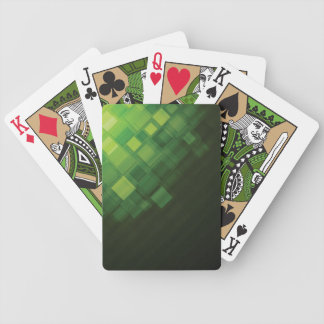 Green abstract technology design bicycle playing cards