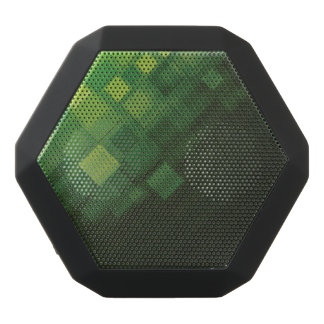 Green abstract technology design black bluetooth speaker