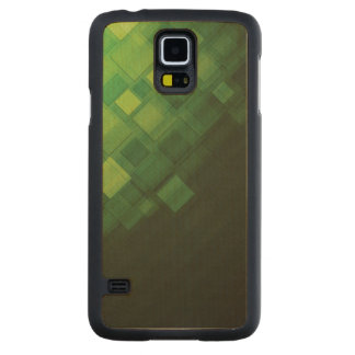Green abstract technology design carved maple galaxy s5 case