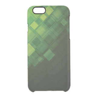 Green abstract technology design clear iPhone 6/6S case