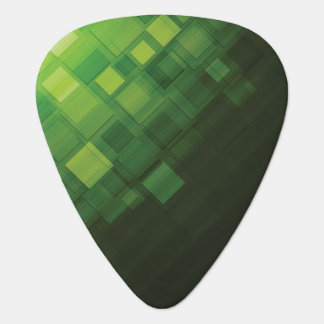 Green abstract technology design guitar pick