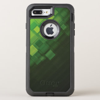 Green abstract technology design OtterBox defender iPhone 8 plus/7 plus case