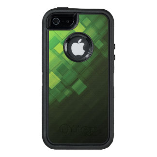 Green abstract technology design OtterBox iPhone 5/5s/SE case