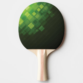 Green abstract technology design ping pong paddle