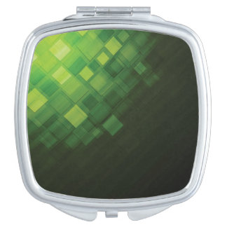 Green abstract technology design travel mirrors