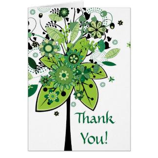 Green Abstract Tree Greeting Card