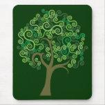 Green Abstract Tree Mousepad