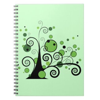 Green Abstract Tree Notebook