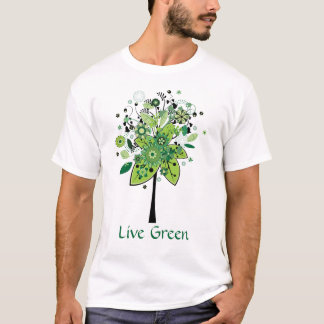 Green Abstract Tree T-Shirt