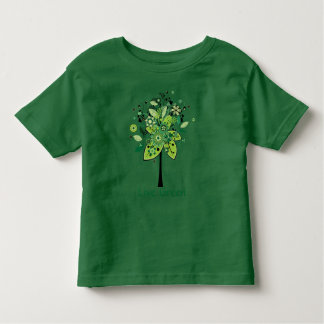 Green Abstract Tree Toddler T-Shirt