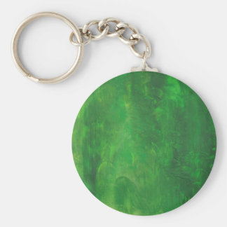 Green Abstract Vertical Brush Strokes Basic Round Button Key Ring