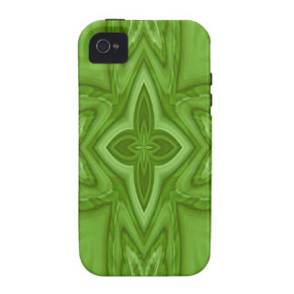 Green abstract wood cross Case-Mate iPhone 4 case