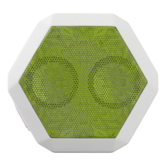 Green abstract wood pattern white boombot rex bluetooth speaker