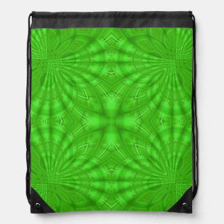 Green abstract wood Pattern Drawstring Bag