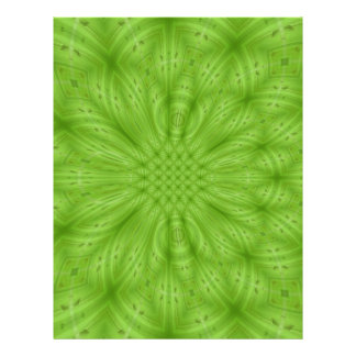 Green abstract wood pattern flyer design