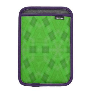 Green abstract wood Pattern iPad Mini Sleeve
