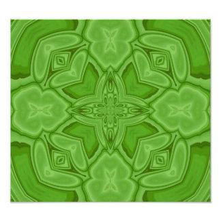 Green abstract wood pattern photo print