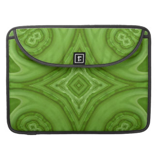 Green abstract wood pattern sleeve for MacBook pro