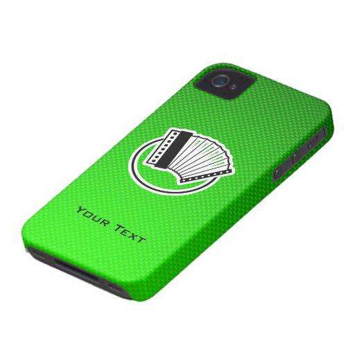 Green Accordion iPhone 4 Case-Mate Case