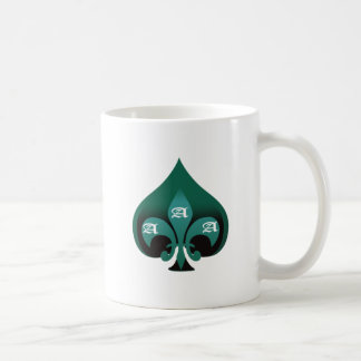 Green ace of spades elegant style coffee mug