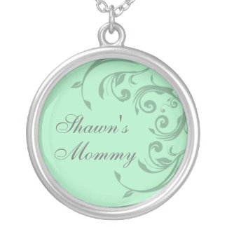 Green Add Your Child's Name Mommy Necklace