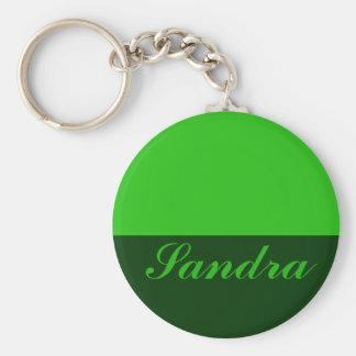 green Add your name Key Ring