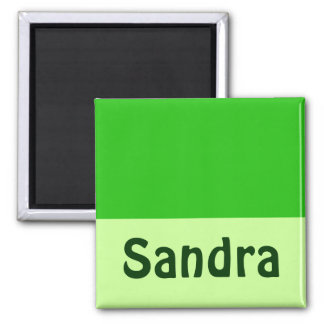 green Add your name Magnet