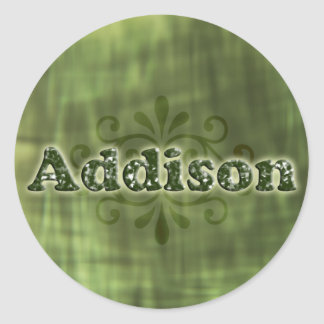 Green Addison Stickers