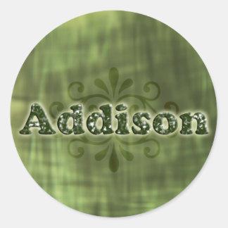 Green Addison Stickers