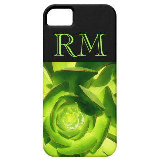 Green Aeonium Succulent Square by Amy Vangsgard Barely There iPhone 5 Case