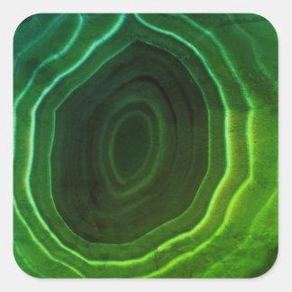 Green agate slice original design coaster square sticker