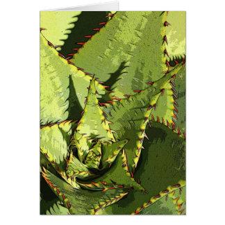 Green agave card