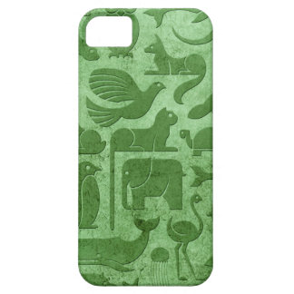 Green Aged and Worn Animal Kingdom Pattern iPhone 5/5S Case