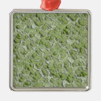 Green algae effect pattern. christmas ornament