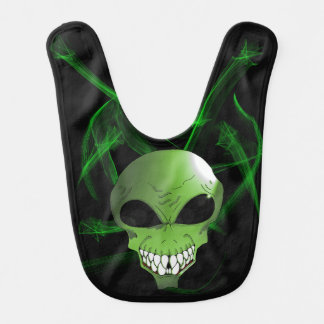 Green alien Baby Bib