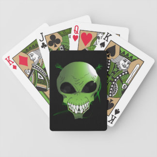 Green Alien Bicycle® Poker Playing Cards