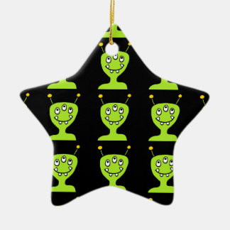 Green Alien Ceramic Star Decoration