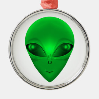 GREEN ALIEN CHRISTMAS ORNAMENT