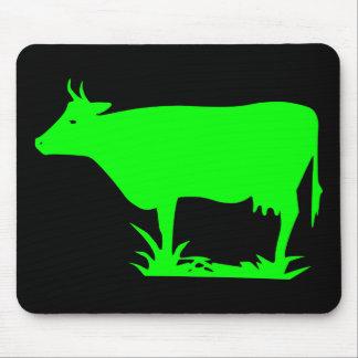 Green Alien Cow Mouse Mat