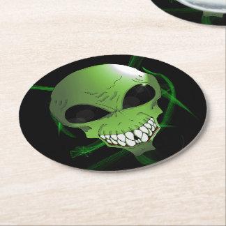 Green alien Custom Coasters (six)