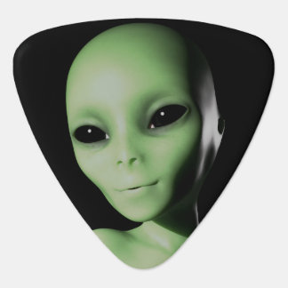 Green Alien Guitar Pick