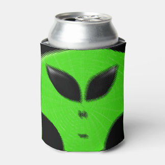 Green Alien Head Can Cooler