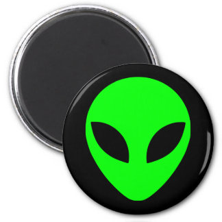 Green Alien Head Magnet