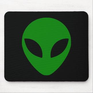 Green Alien Head Mouse Mat