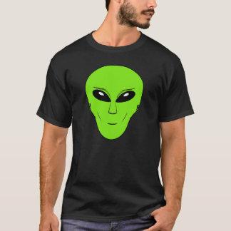 Green Alien Head T Shirt. T-Shirt