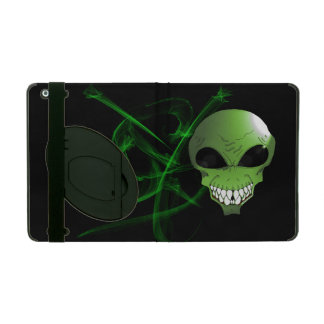 Green alien iPad 2/3/4 Case with Kickstand