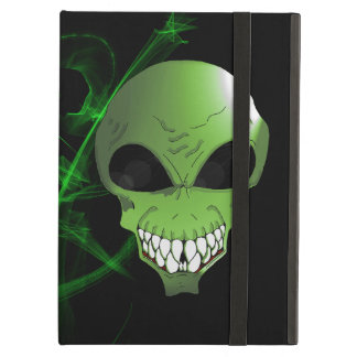 Green alien iPad Case with No Kickstand