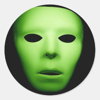 Green Alien Man jpg Round Sticker