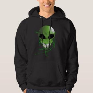 Green alien Men's Basic Hooded Sweatshirt